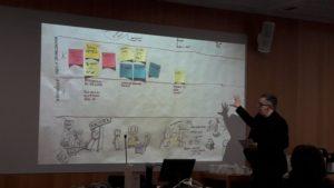 Andrea Gasparini presenting Frilux methods